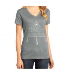 Naish Wmns T-Shirt Boho V-Neck H.Grey