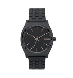 NIXON Time Teller 37mm All Black / Rose Gold